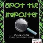 Spot the Imposter - Level 3 - A Warm-up Math Activity