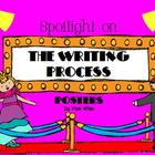 Spotlight on the Writing Process Posters (Movie Theme)