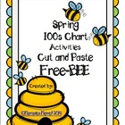 Spring 100s Chart Activities Cut and Paste FreeBEE!