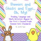 Spring Activities Common Core Aligned: Bunnies and Chicks