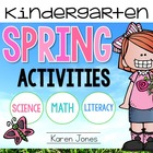 Spring Activities for Kindergarten with ELA & Math Common Core!