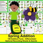 Spring Math Centers Addition Spring Activities -3 Ways to Play