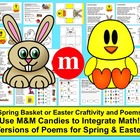 Spring Basket Literacy and Math Center M&M Math (Shared Re
