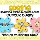 Spring Beginning, Middle & Ending Sound Center Cards PLUS