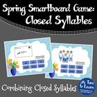 Spring Closed Syllables Game for Smartboard or Promethean Board!