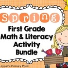 Spring Common Core Math and Literacy Activities and Center