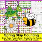 Spring Math Centers Counting and Skip Counting Centers Activities