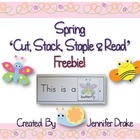 Spring 'Cut, Stack, Staple & Read' FREEBIE!