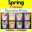 Spring Descriptive Writing Craftivity (5 Senses) for First Grade
