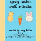 Spring (Easter) Math Activities - Common Core Standards