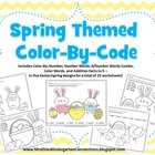 Spring Easter Themed Color by Code / Color by Number Packet