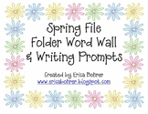Spring File Folder Word Wall and Spring Writing Prompts