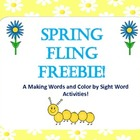 Spring Fling FREEBIE Literacy Activities