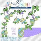 Spring Froggy Clipart Set