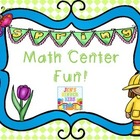 Spring Fun Math Centers {First Grade}