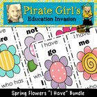 Spring Funky Flowers Dolch Word Game Packet