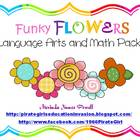 Spring Funky Flowers Language Arts and Math Pack