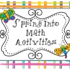 Spring Into Math Activities
