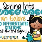 Spring Into Word Work Galore-20 Differentiated/Aligned Sta