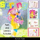 Spring Is Here - Fun Flower Activities for Math and Literacy