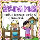 Spring Kids -- Math and Literacy Centers