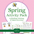 Spring Literacy and Math Pack - 19 Centers & Activities -