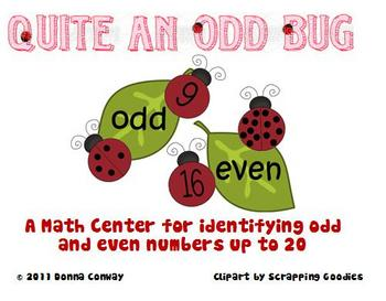 Spring Math Center - Odd and Even Ladybugs