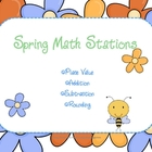 Spring Math Centers: Place Value, Addition, Subtraction, Rounding