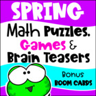 Spring Math Games Puzzles and Brain Teasers