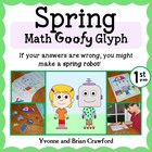 Spring Math Goofy Glyph (1st grade Common Core)