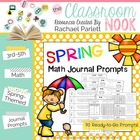 Spring Math Journal Prompts For Older Students