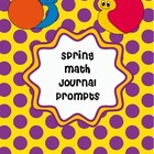 Spring Math Journal Prompts Freebie