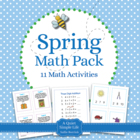 Spring Math Pack - Eleven Math Centers and Activities