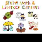 Spring Math and Literacy Centers