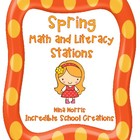 Spring Math and Literacy Stations - aligned with The Core