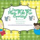 Spring Mega Literacy & Math Center Packet {22 Centers}