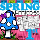 Spring Printables for First Grade {Ready, Set, Print!}
