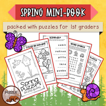 Spring Mini-Puzzle Book for First Graders