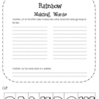 Spring: Rainbow Making Words