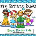 Spring Sentence Builders SMARTboard - CVC, Sight Words, Bl