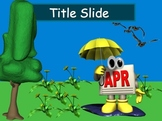 Spring Showers Powerpoint Template with Clipart