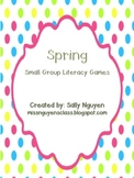 Spring Small Group Literacy Games
