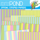 Spring Striped Papers - FREE Graphics for your Teaching Resources
