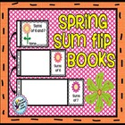 Spring Sum Flip Books - Math Fact Fluency Practice for Pri