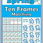 Spring Ten-Frames Matching Games {Numbers 0-10 and 10-20}