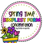Spring Time Simplest Form Concentration