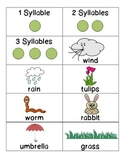 Spring Vocabulary Syllable Sort