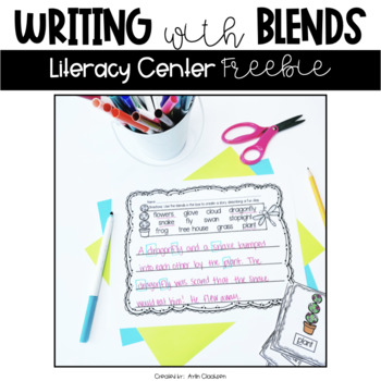 Spring Writing with Blends- Literacy Center Activity