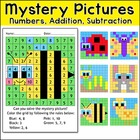 Spring and Summer Critters Mystery Picture Math Activities