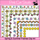 Borders - Spring and Summer Frames / Borders Clip Art - Co